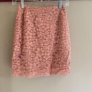 H & M Peach Lace Skirt (Sz 2)